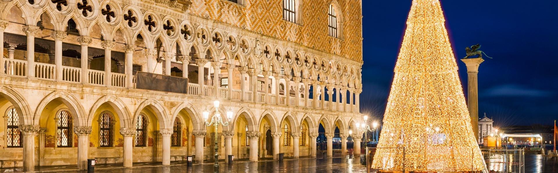 Piazza San Marco in Venetië, Italië tijdens kerst