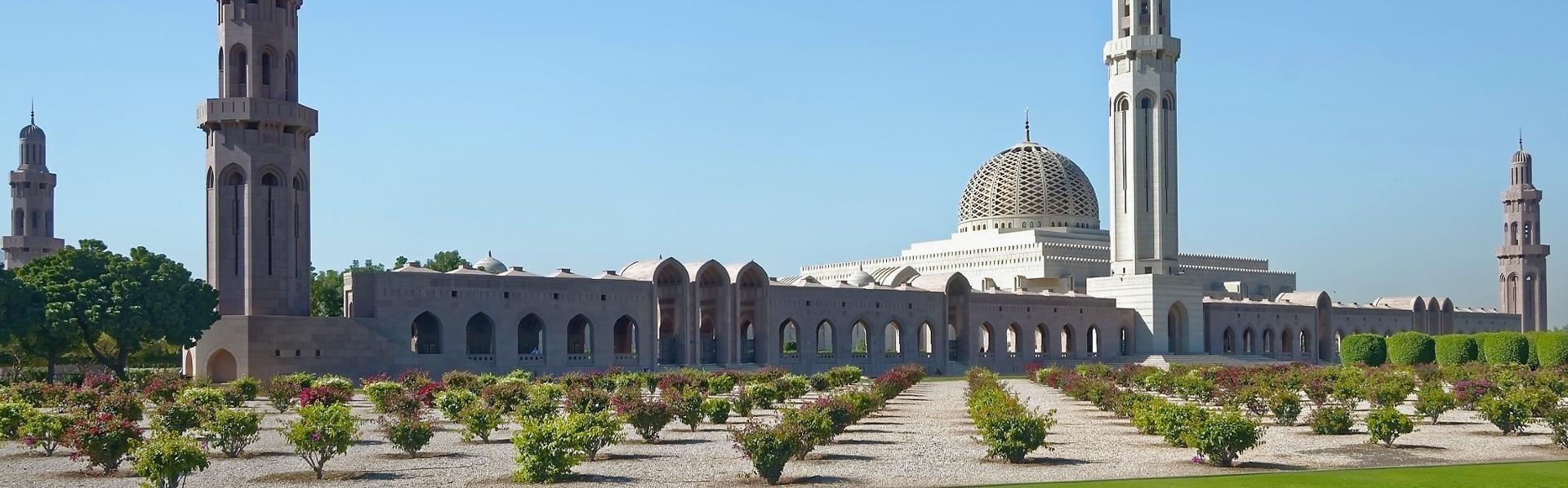 De Grote Moskee in Muscat, Oman