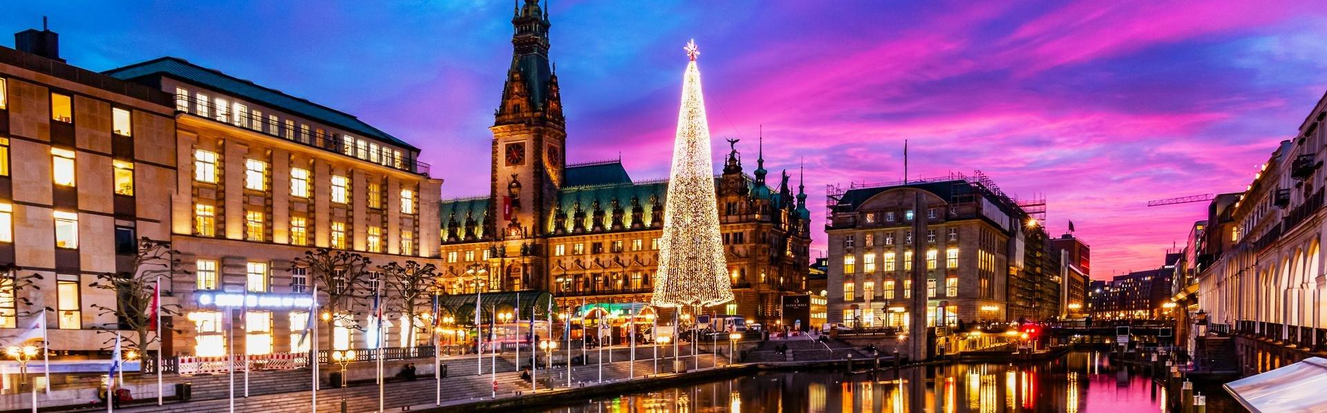 Hamburg, Duitsland, tijdens kerst
