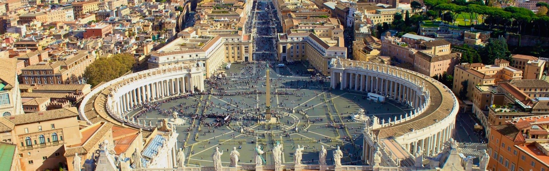 Sint Pieterplein in Rome, Vaticaanstad, Italië