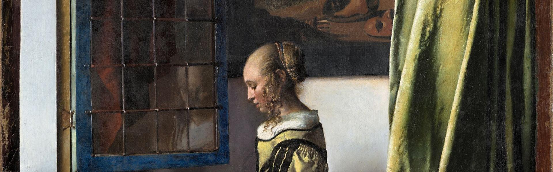 Vermeer-expositie in Gemäldegalerie Alte Meister, Dresden, Duitsland