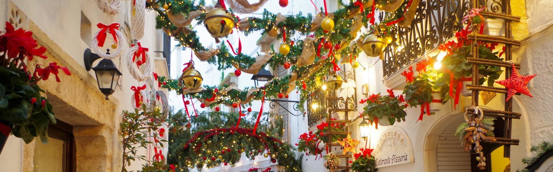 Kerst in Locorotondo, Italië