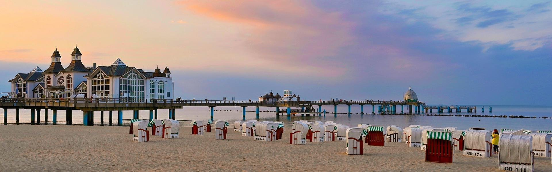 Strandpaviljoen Sellin op Rügen, Duitsland