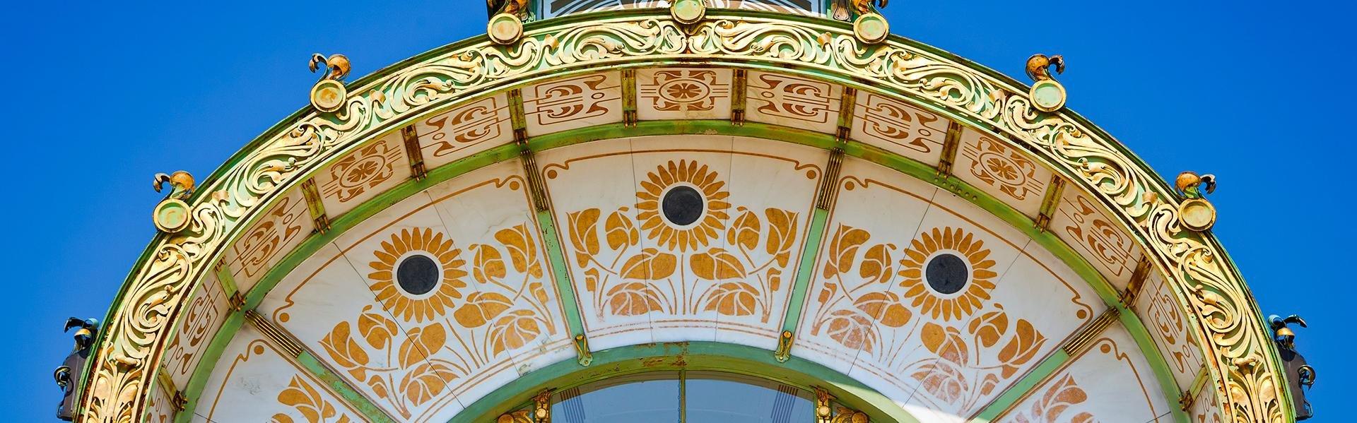 Paviljoen van Otto Wagner op het Karlsplatz in Wenen, Oostenrijk