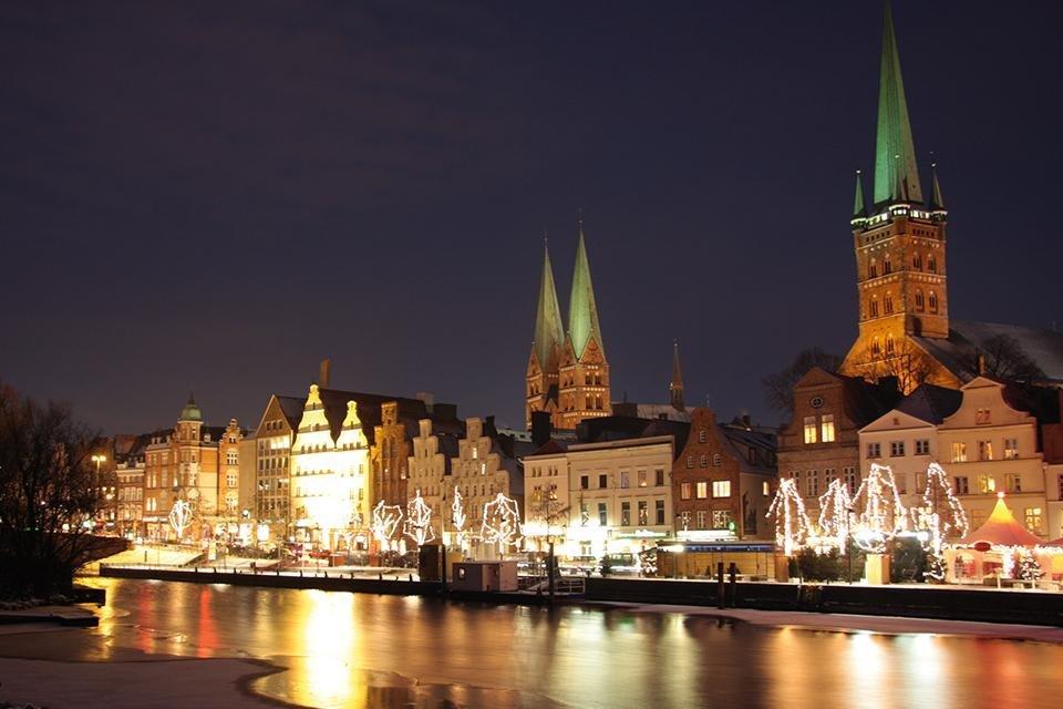 Kerst in Lübeck, Duitsland