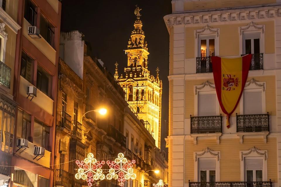 Kerst in Sevilla, Andalusië, Spanje