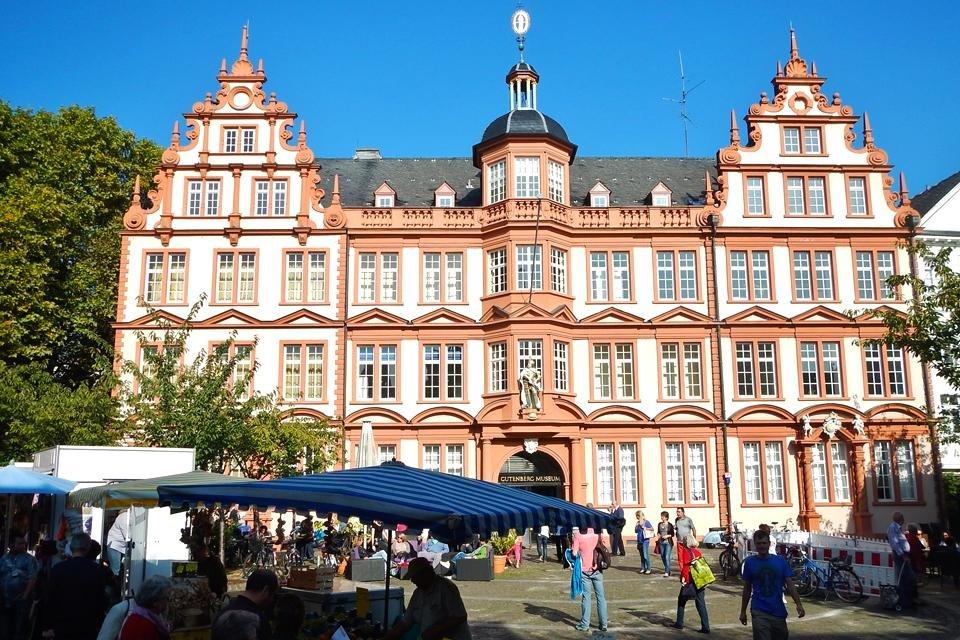 Het Gutenbergmuseum in Mainz, Duitsland