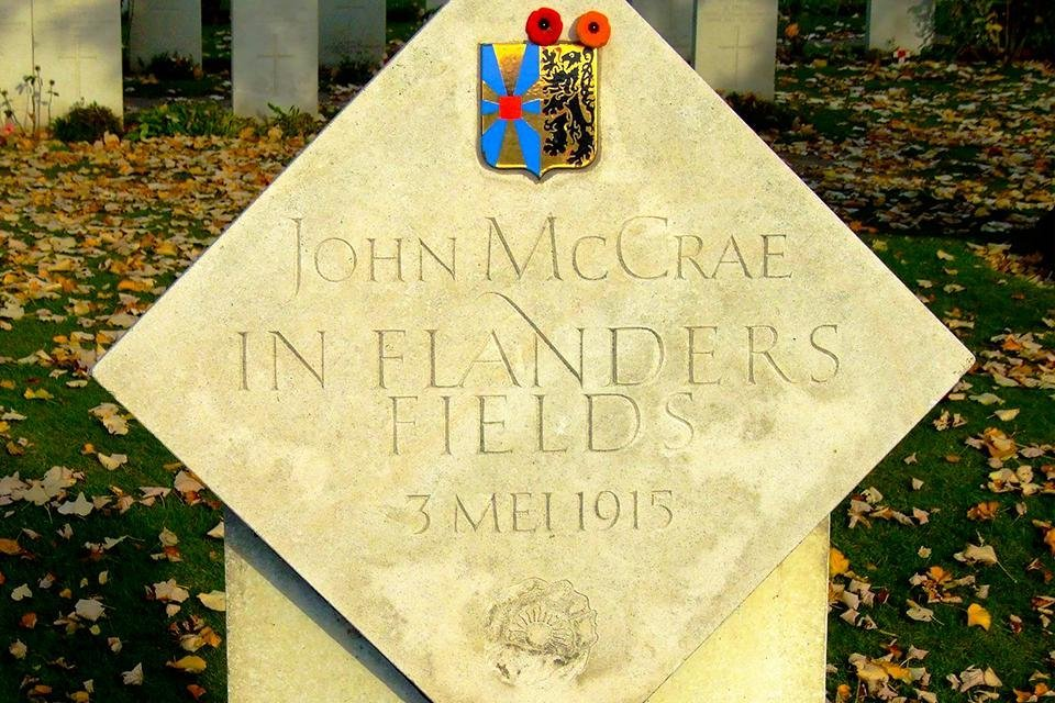 John MacCrae memorial op Essex Farm Cemetery, België