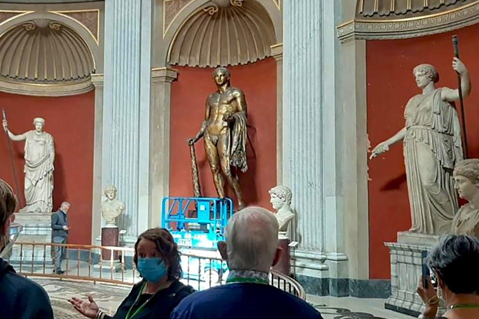 Diane in de Sala Rotonda, Vaticaanse musea, Rome, Italië