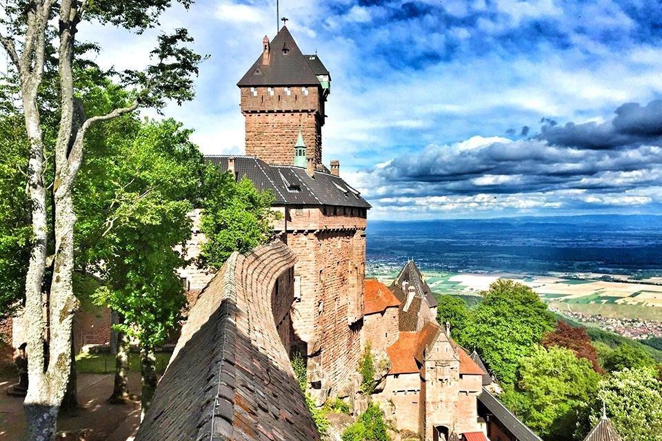 Chateau Haut-Kœningsbourg, Elzas, Frankrijk