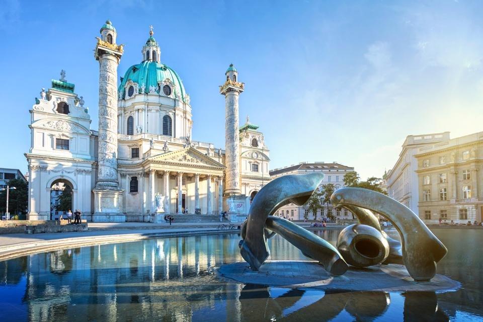 Karlskirche in Wenen, Oostenrijk