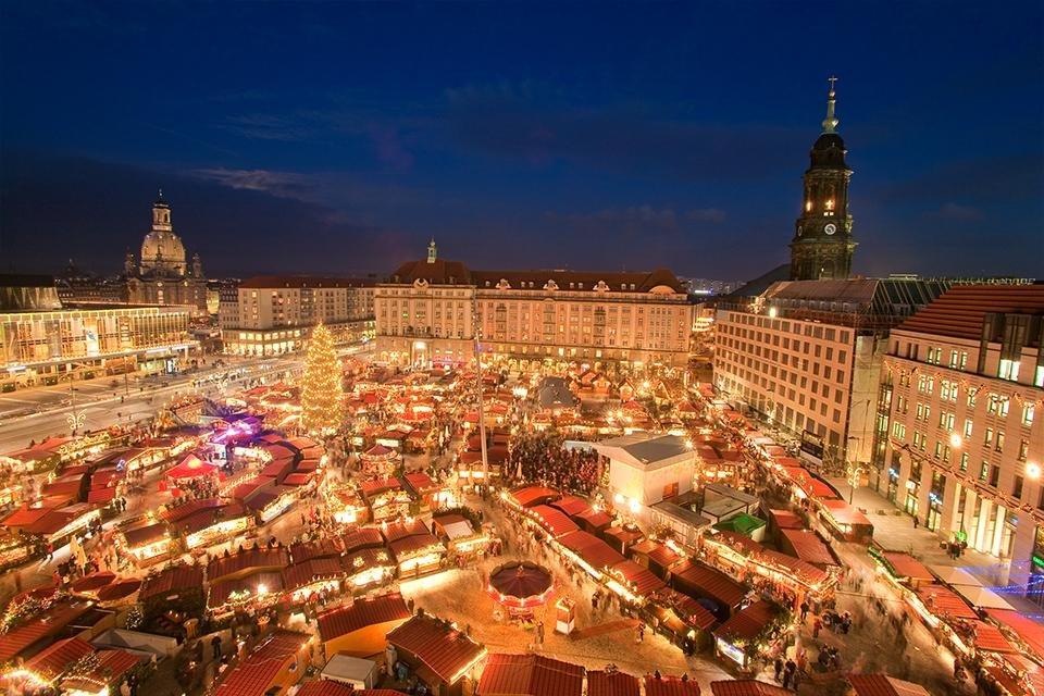 Striezelmarkt in Dresden, Duitsland