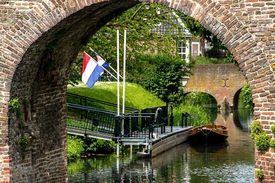 Fluisterbootje in Zutphen, Nederland