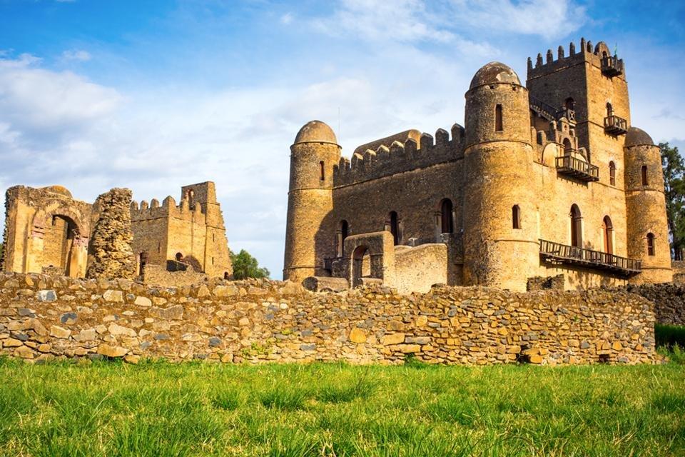 Kasteel van Fasiliden in Gondar, Ethiopië