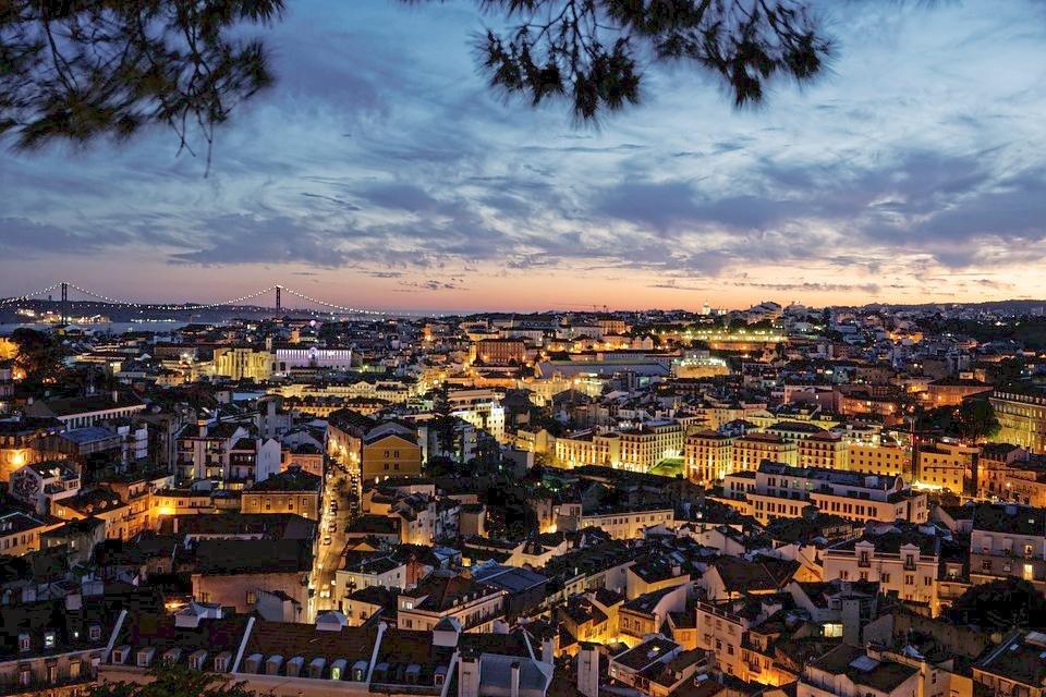 Uitzicht over Lissabon, Portugal