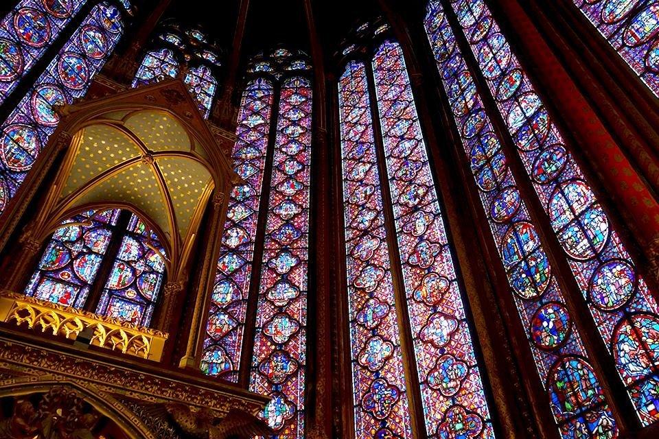 Sainte-Chapelle op het Île de la Cité in Parijs, Frankrijk