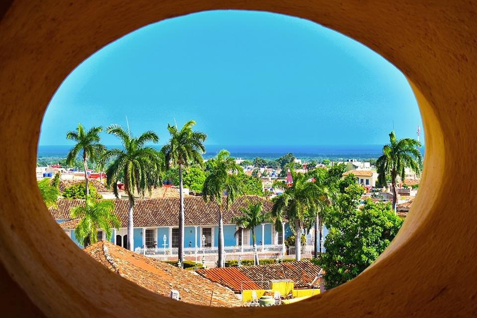 Zicht op Trinidad, Cuba