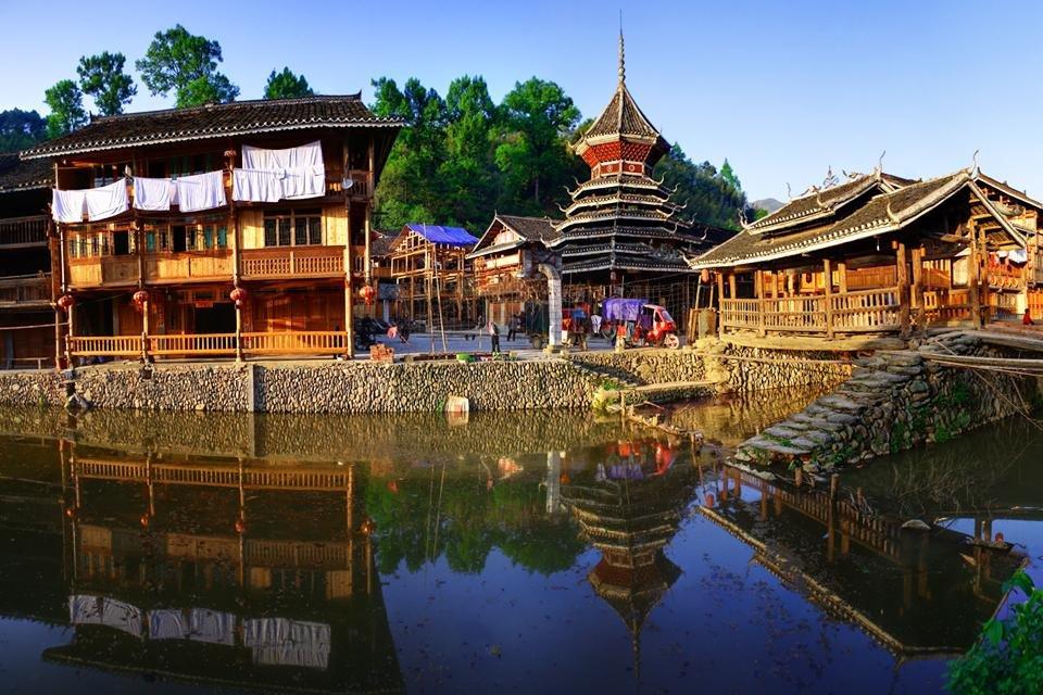 Dong-dorp Zhaoxing, China