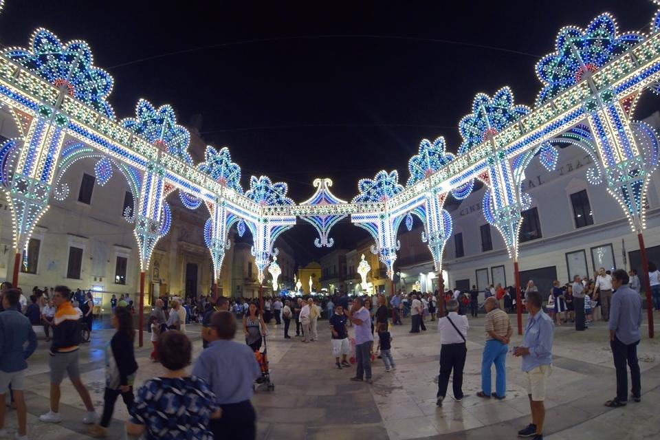 Bari, Italië, tijdens kerst