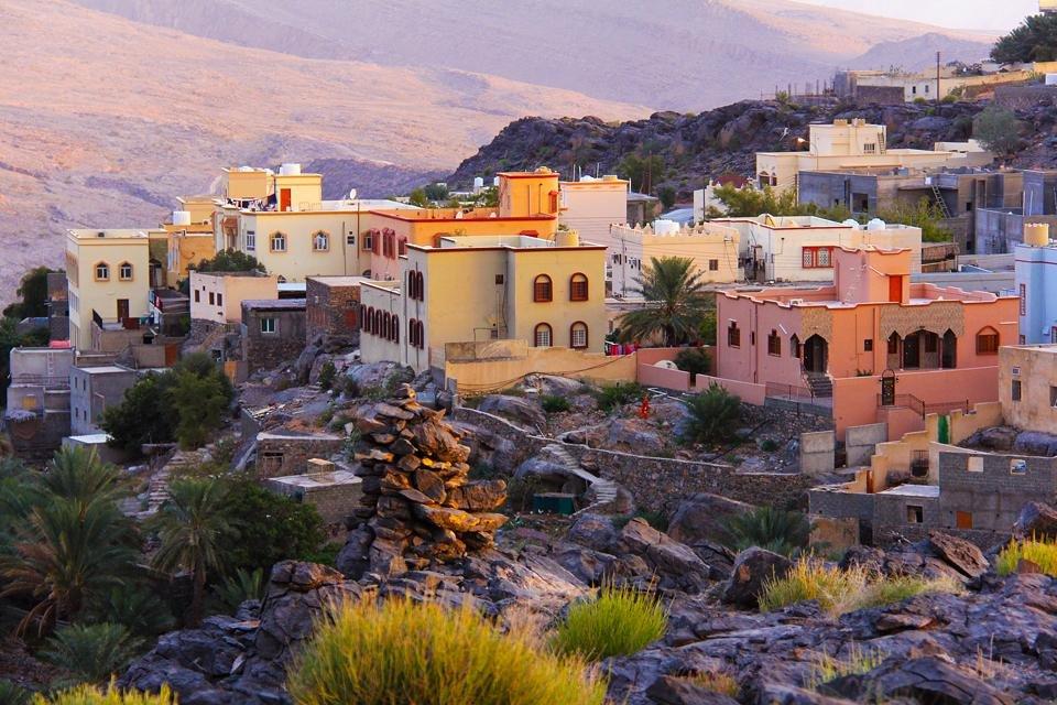 Zicht op Nizwa, Oman