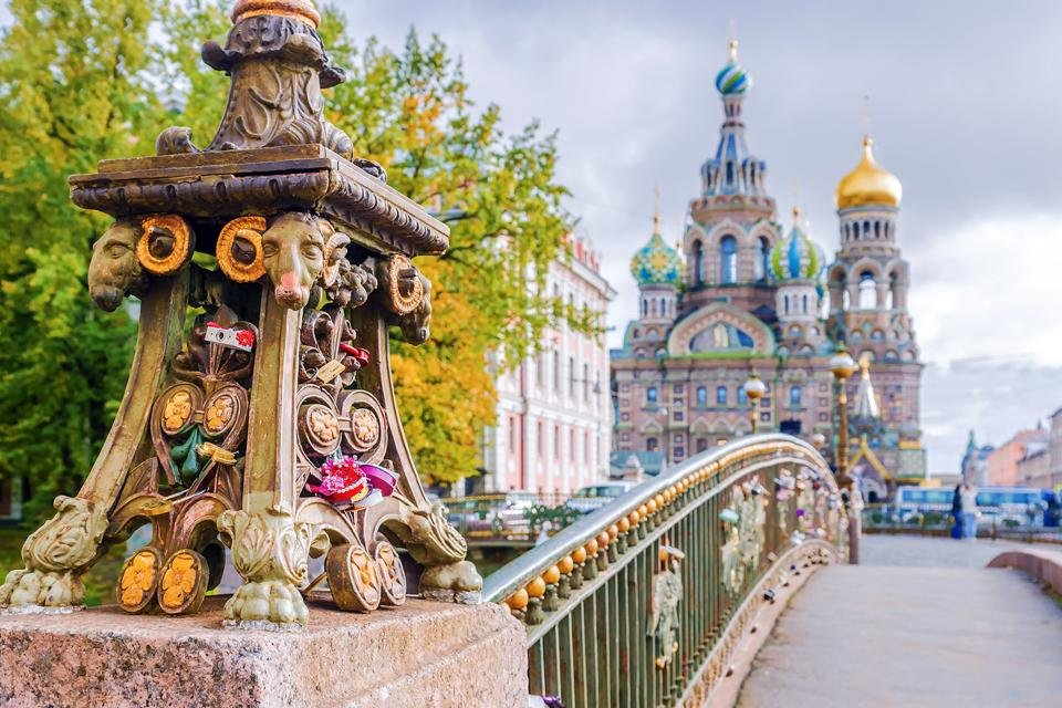 Verlosserkerk in Sint Petersburg, Rusland