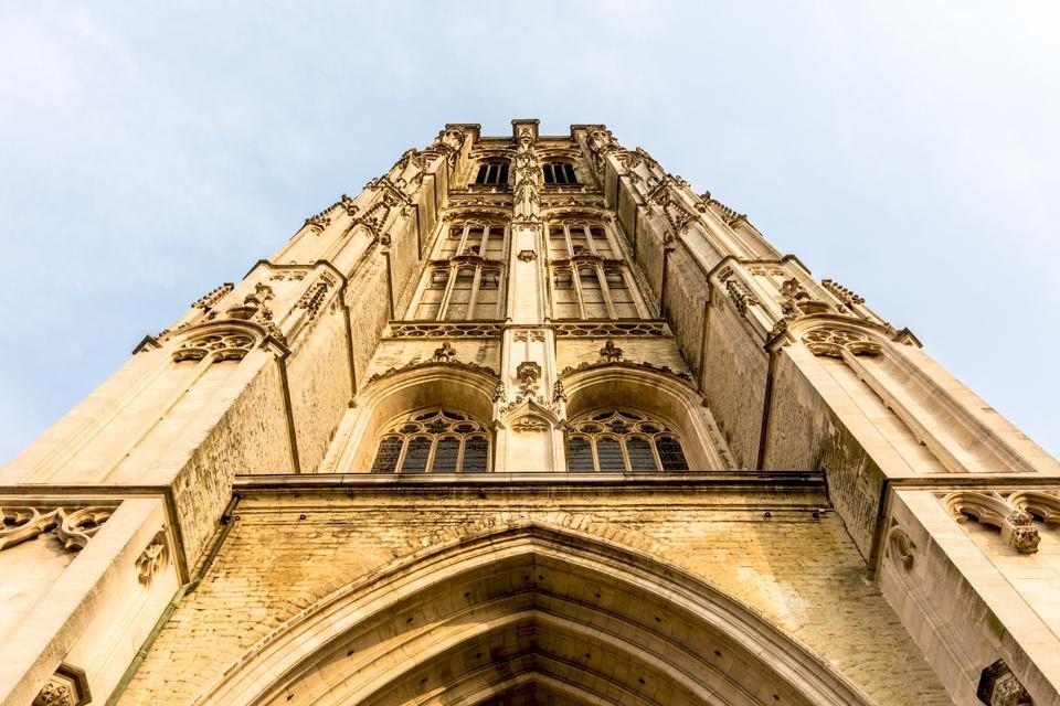 De Sint-Romboutstoren in Mechelen, België