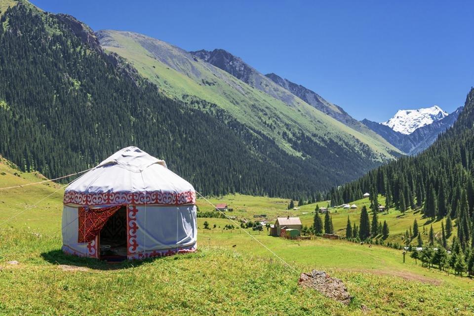 Platteland van Kirgizië