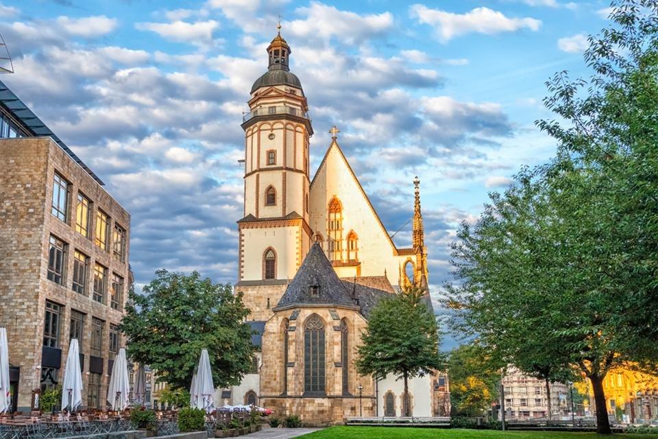 De Thomaskirche in Leipzig, Duitsland