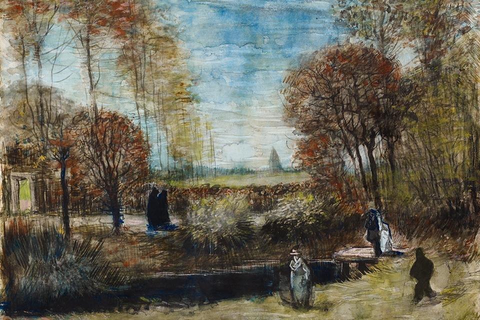 De tuin van de pastorie te Nuenen, Vincent van Gogh, 1885, Noordbrabants Museum in Den Bosch