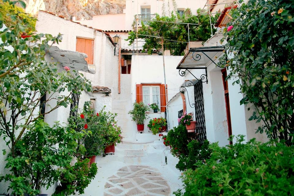 Anafiotika in Athene, Griekenland