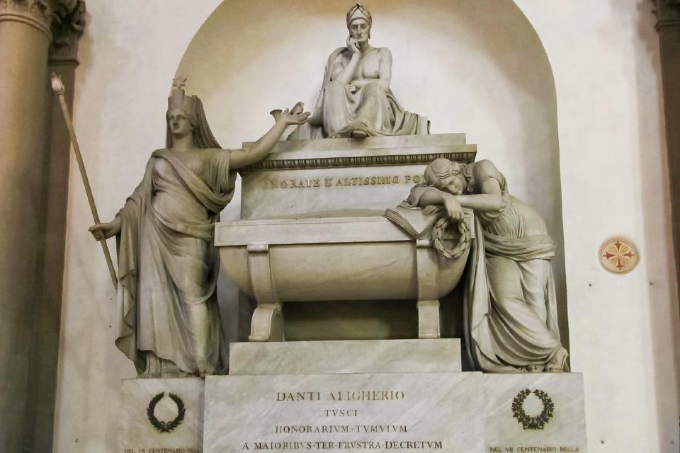 Cenotaaf Dante in Santa Croce in Florence, Italië
