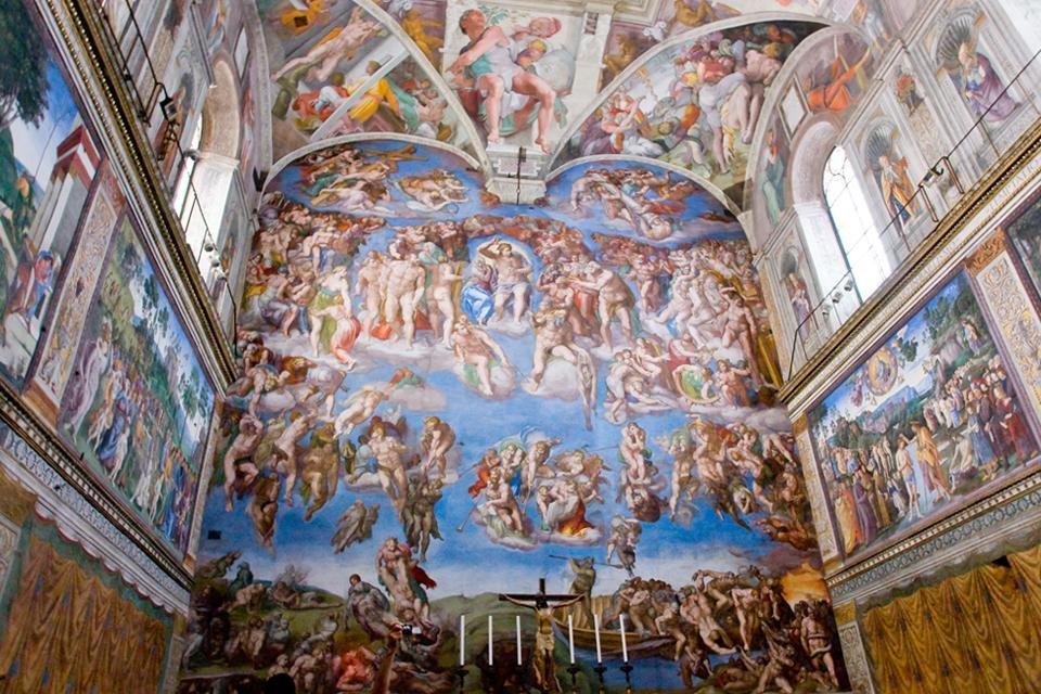 De Sixtijnse kapel in Rome, Italië
