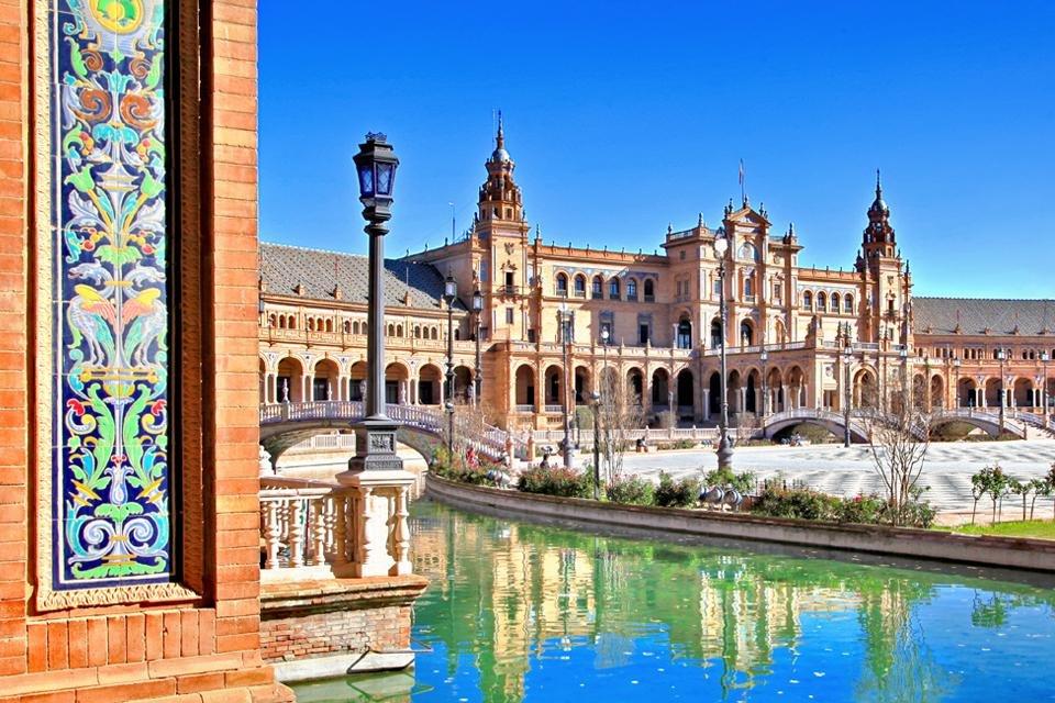 Plaza de España in Sevilla, Andalusië, Spanje