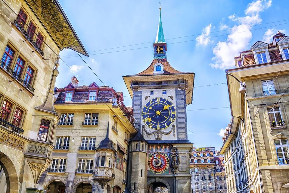 Het centrum van Bern, Zwitserland