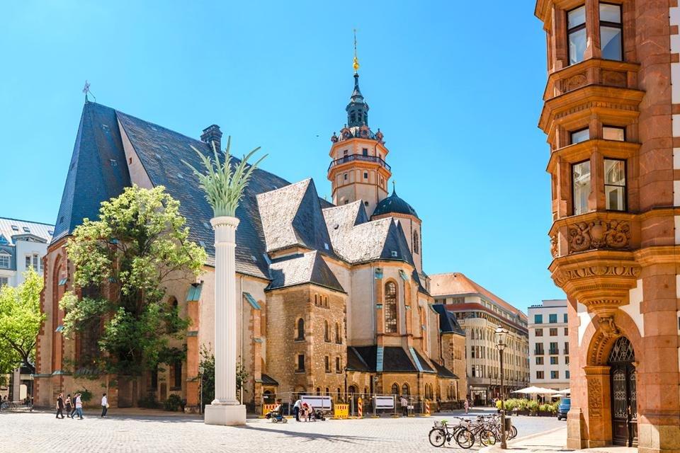 De Nikolaikirche in Leipzig, Duitsland