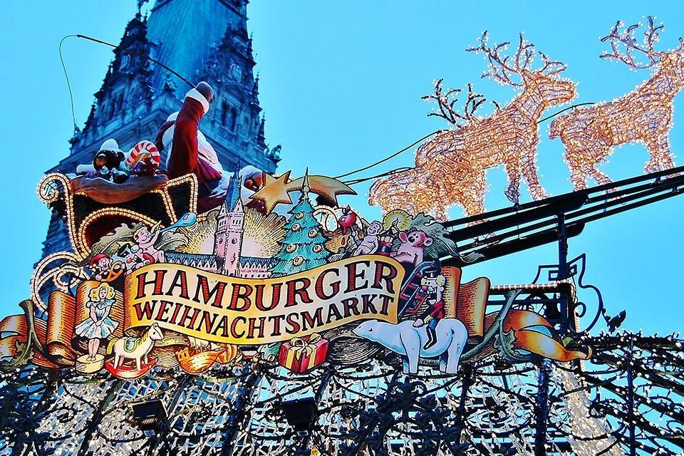 Hamburger Weihnachtsmarkt in Hamburg,  Duitsland