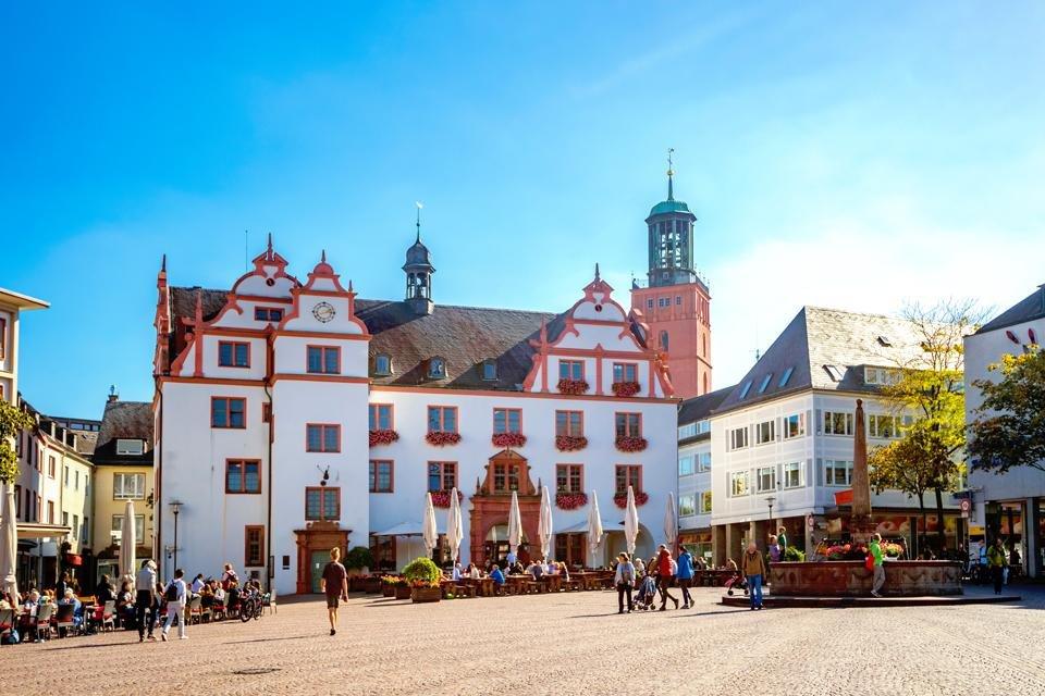 Altes Rathaus in het centrum van Darmstadt in Duitsland