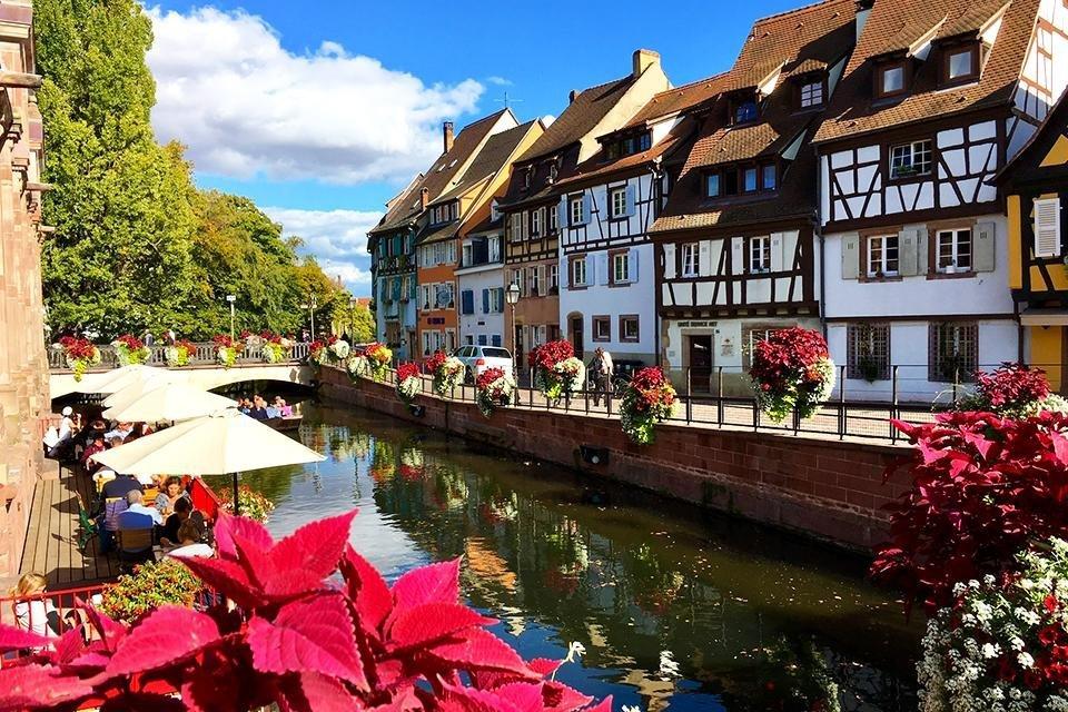 La petit Venise in Colmar, Elzas, Frankrijk