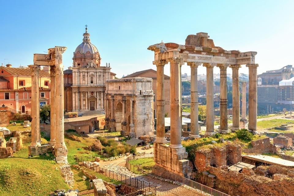 Forum Romanum in Rome, Italië