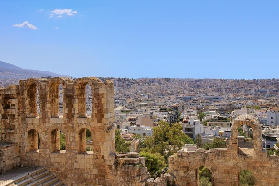 Theater van Dionysus in Athene, Griekenland