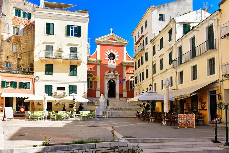 Corfu-Stad, Corfu, Griekenland