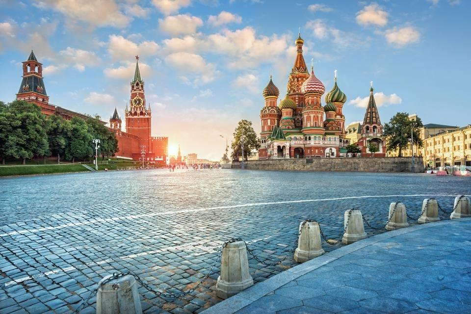 Het Rode Plein in Moskou, Rusland