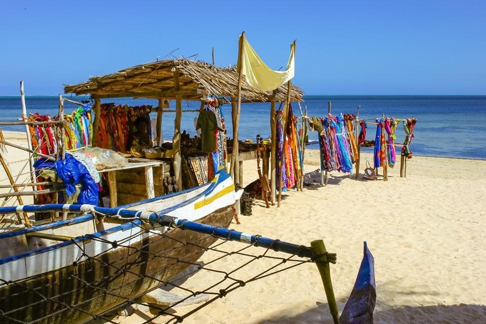 Het strand van Ifaty in Madagaskar