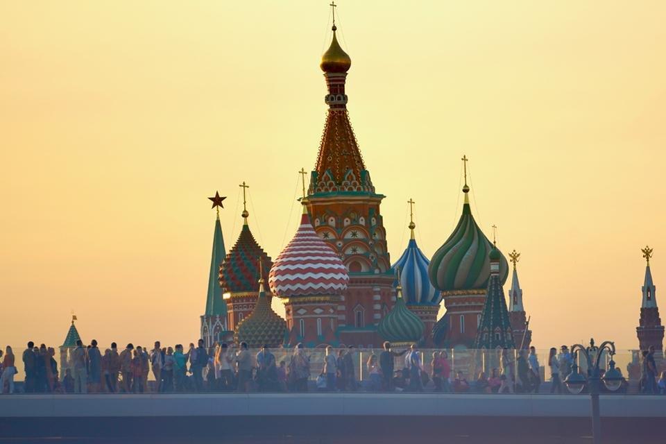 Zaryadye park in Moskou, Rusland