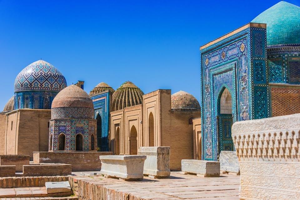 Necropolis Shah-i-Zinda in Samarkand, Oezbekistan