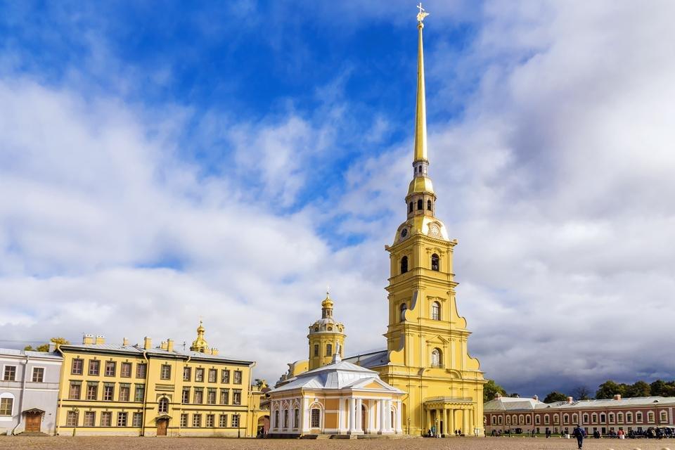 De Petrus- en Paulusvesting in Sint Petersburg, Rusland
