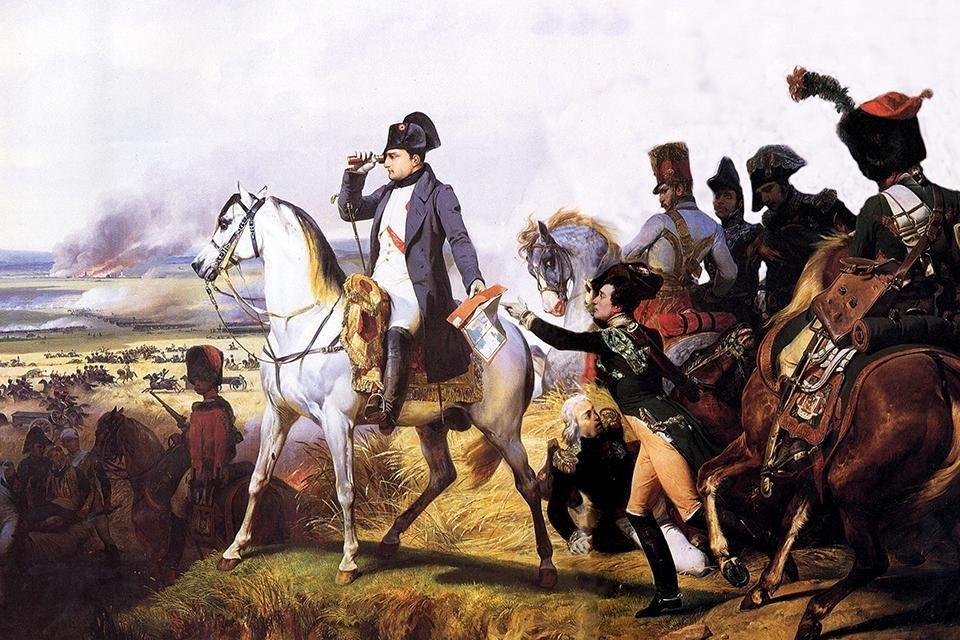 Napoleon bij de Slag bij Wagram, 1809