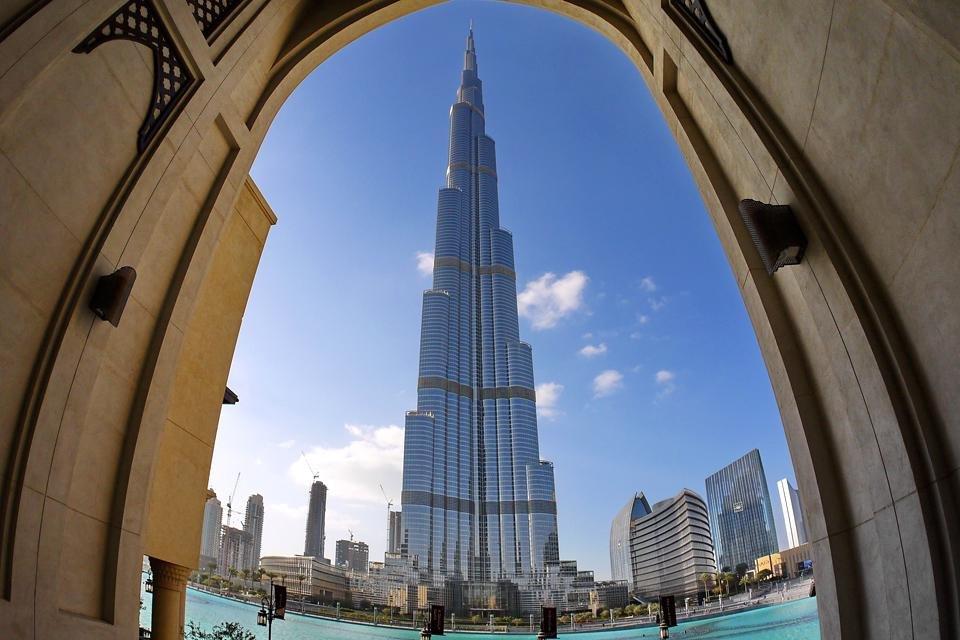 De Burj Khalifa in Dubai, Verenigde Arabische Emiraten