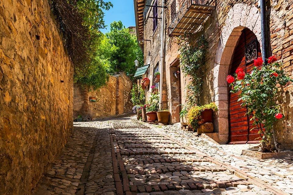 Montefalco, Umbrië, Italië