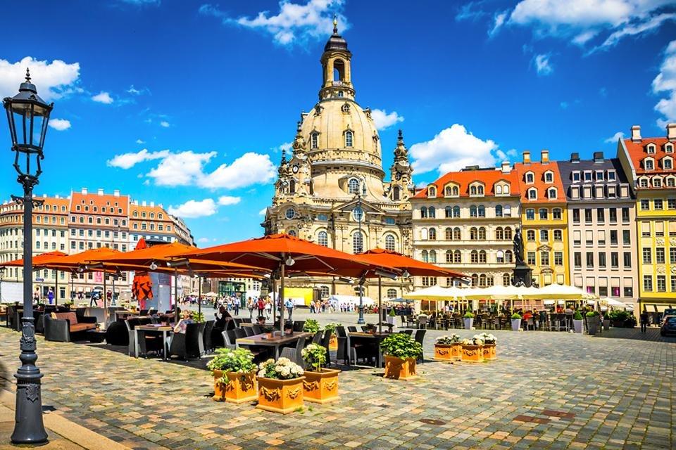 Historisch centrum in Dresden, Duitsland